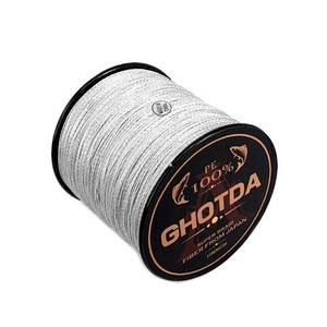 Шнур плетеный рыболовный 150м 0.16мм 8.1кг GHOTDA, серый