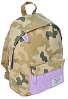 Городской рюкзак Paso CM-222G камуфляж/сирень 15 л