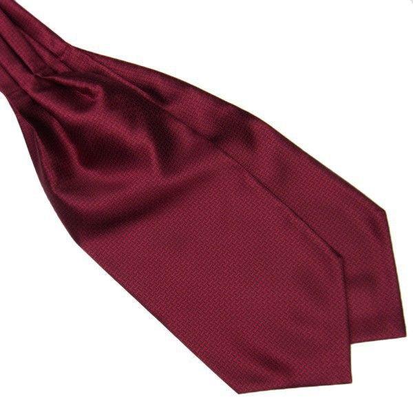 Краватка аскот бордова з візерунком (Askot) ASK-7041
