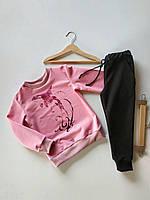 Костюм для дівчинки з малюнком - ДЕЛЬФІН. Дитячий одяг. Спортивні костюми дитячі