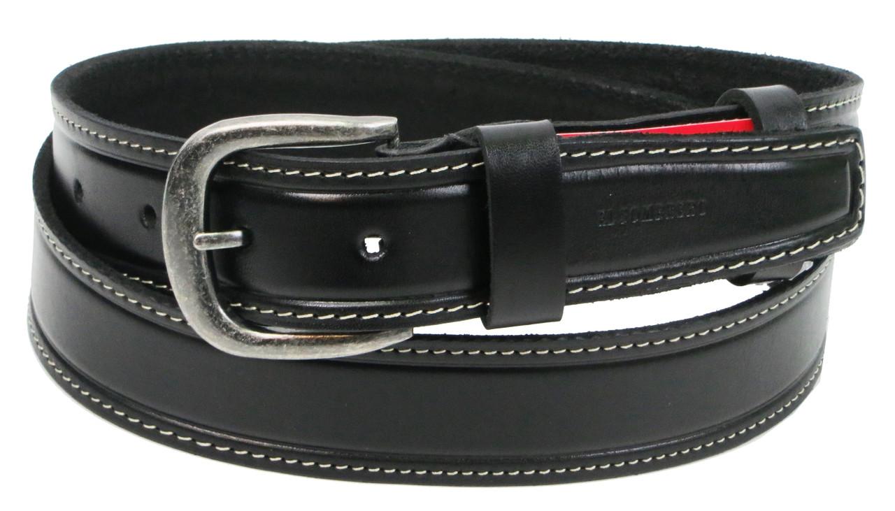 Кожаный мужской ремень для джинс Skipper 1299-38