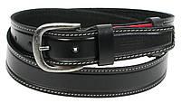 Кожаный мужской ремень для джинс Skipper 1299-38, фото 1