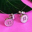 Серебряные серьги пуссеты Пуговицы - Серебряные серьги гвоздики минимализм, фото 4