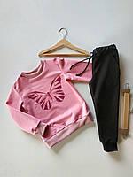 Костюм метелик, штани з кишеннями. Дитячий одяг. Костюм для дівчинки. Спортивні костюми дитячі.
