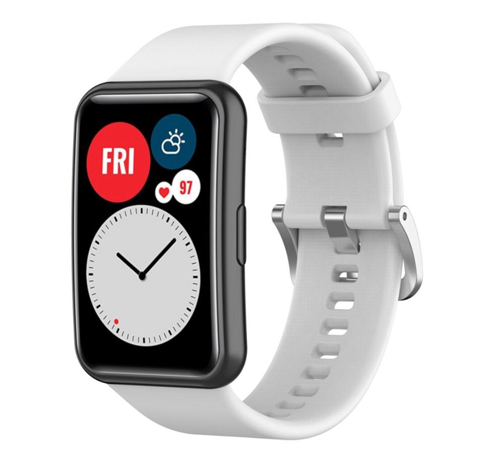 Силиконовый ремешок Primolux для смарт-часов Huawei Watch Fit (TIA-B09) - White