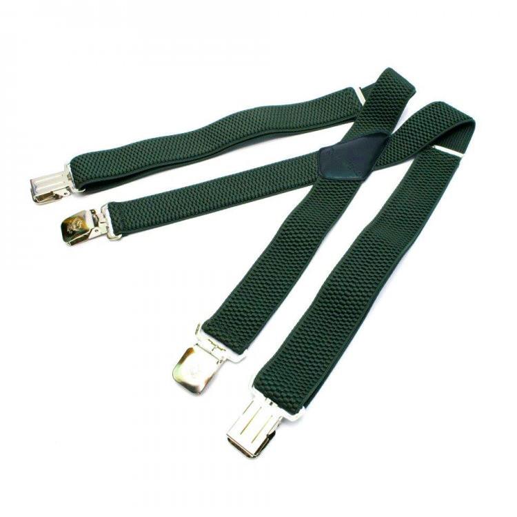 Підтяжки Gofin темно-зелені Х подібні 4 см PBX-5528
