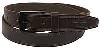 Мужской кожаный ремень под брюки Skipper 1145-33 коричевый ДхШ: 130х3,3 см., фото 1