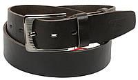 Мужской кожаный ремень под джинсы Skipper 1179-45 темно-коричневый ДхШ: 125х4,5 см., фото 1