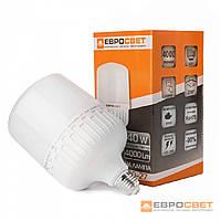 Лампа світлодіодна високопотужна ЕВРОСВЕТ 40Вт колір 6400К EVRO-PL-40-6400-27 цоколь Е27