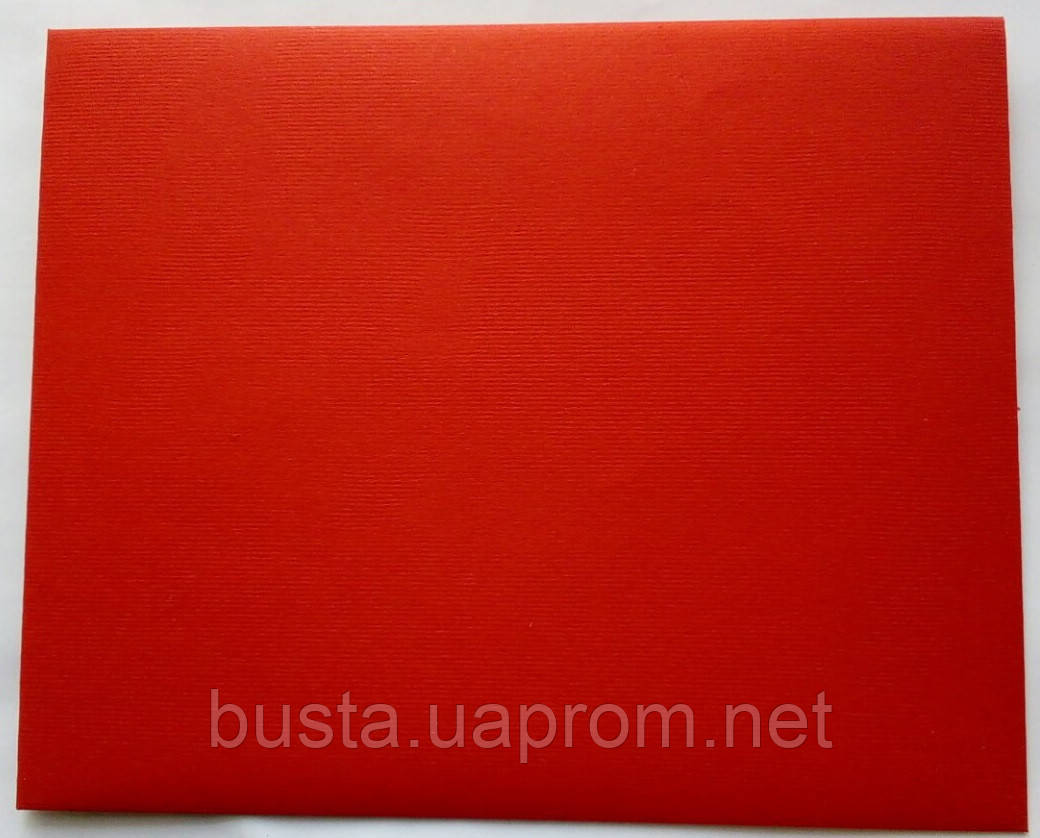 Конверт С6+ красный 140гр вельвет