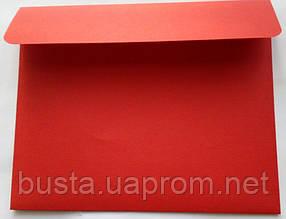 Конверт С6+ красный 140гр вельвет, фото 2