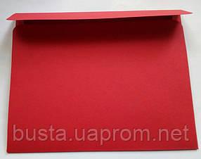 Конверт С6+ красный 140гр вельвет, фото 3