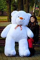 Большой плюшевый медведь 200 см белый, Мишки 2 метра, Большие мягкие игрушки, Большой плюшевый медведь