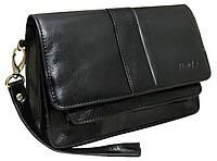 Барсетка, клатч из натуральной кожи Rovicky 478CCVT черная, фото 1