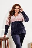Велюровий спортивний костюм жіночий Розмір 50 52 54 56 58 60 62 64 Різні кольори, фото 3