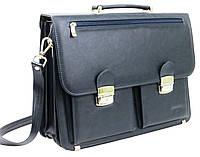 Портфель деловой из эко кожи Verto, Польша N01A1 синий, фото 1