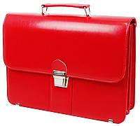Деловой портфель женский из эко кожи AMO SST08 красный, фото 1