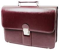 Деловой портфель женский из эко кожи AMO SST08 бордовый, фото 1