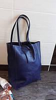 Синяя сумка кожаная Италия Вера Пелле Сумки через плечо женские шоппер модные df265f26