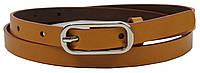 Женский кожаный ремень 1,5 см Rovicky коричневый, фото 1