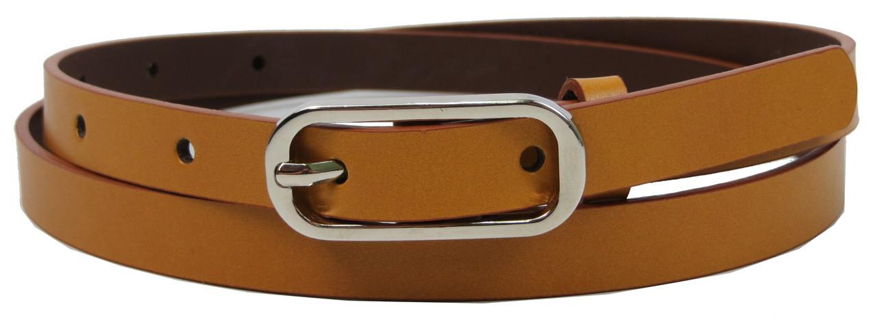 Женский кожаный ремень 1,5 см Rovicky коричневый