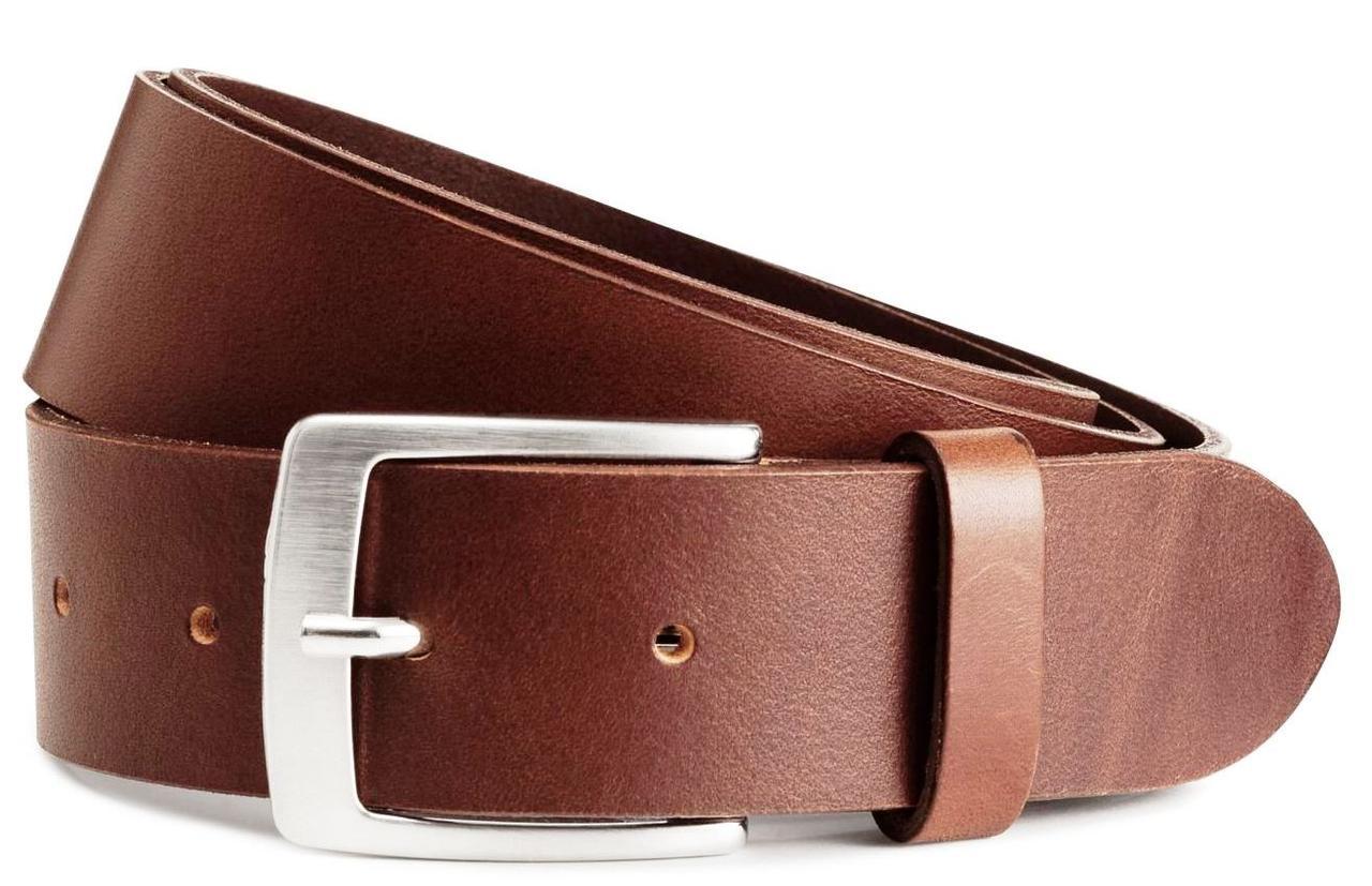 Детский кожаный ремень под брюки H&M коричневый