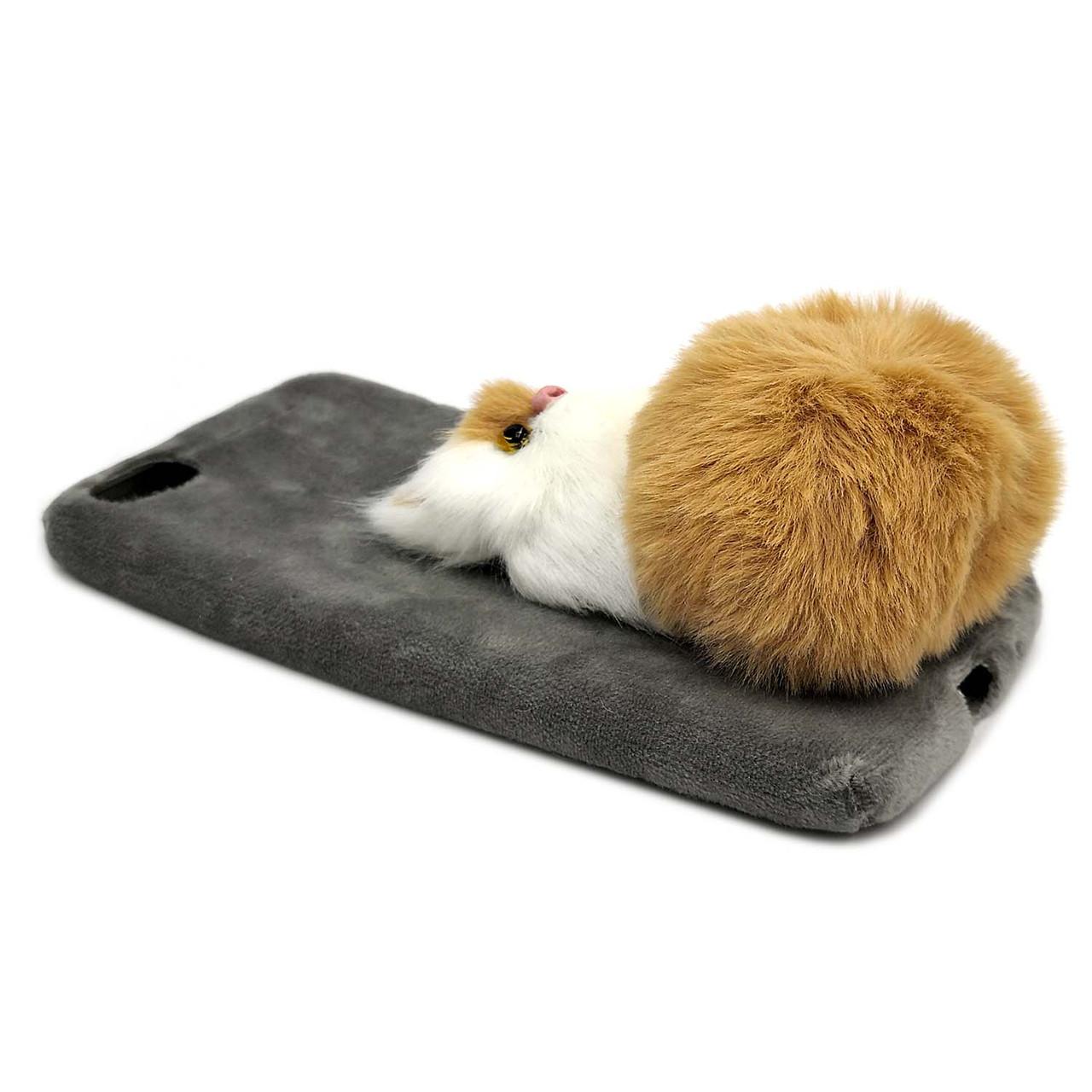 меховой чехол на Huawei Y5 2018 дикий кот
