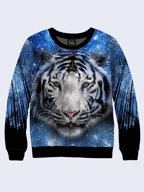 Женский свитшот Тигр в звездах. Размер 42 - 50