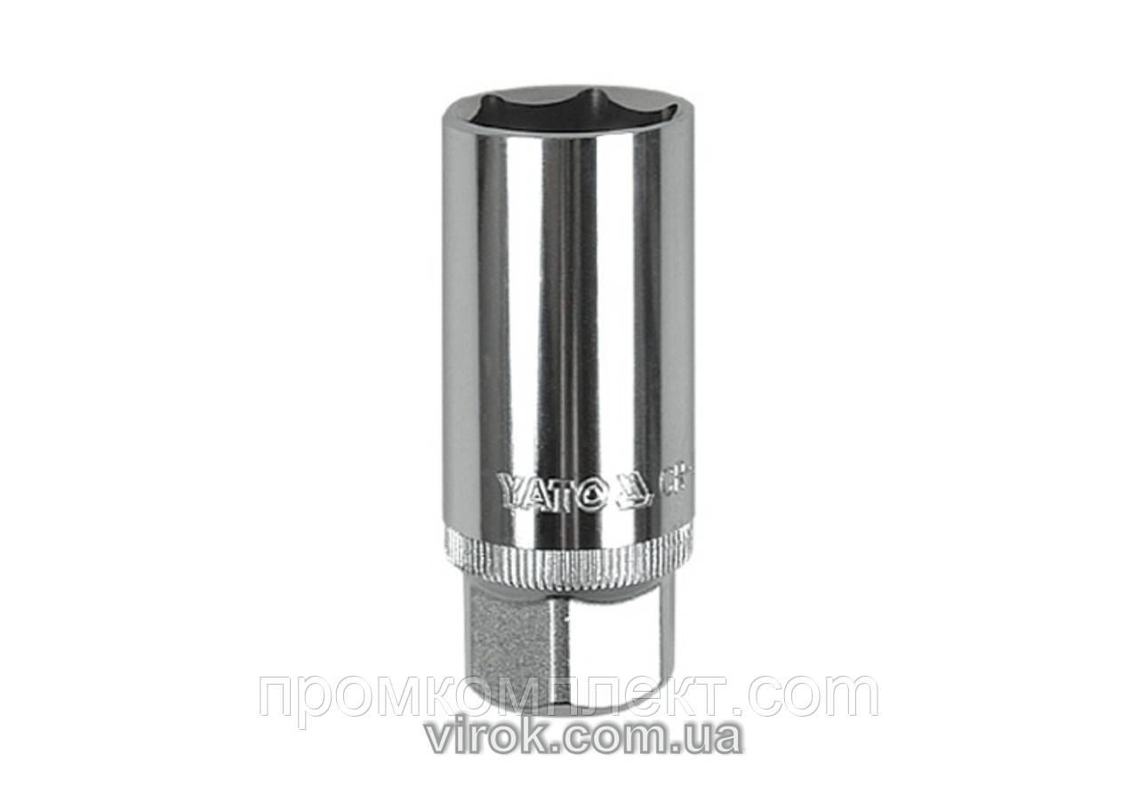 """Головка до """"свічок"""" двигуна YATO, M=1/2""""(12,7 мм), A=16, L=64 мм [10/50/100]"""