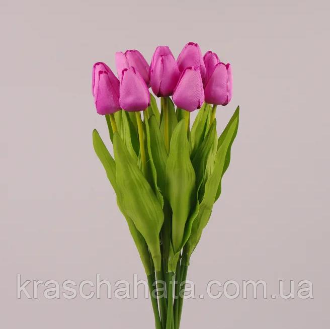 Цветок искусственный, Тюльпан светло-фиолетовый, H49 см, Искусственные цветы, Днепр