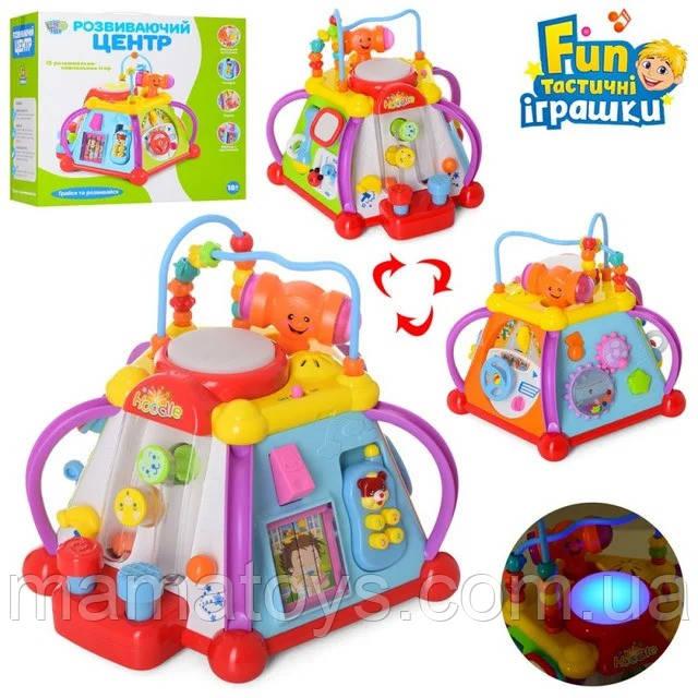 Мультібокс 806 Розвиваюча музична іграшка сортер для малюків Звук 15 ігор.