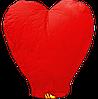 Небесний ліхтарик Велике Серце, висота ліхтарика: 102 сантиметра, колір: червоний