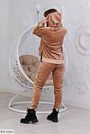 Бархатный женский спортивный костюм (Батал), фото 3