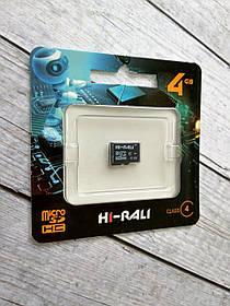 Карта памяти Micro SD 4Gb Hi-Rali Class 4 без ад.