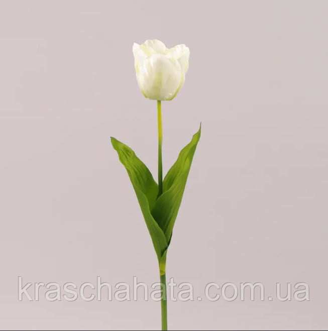 Цветок искусственный, Тюльпан белый, H 60см, Искусственные цветы, Днепр