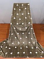 Плед-покрывало флисовый Тм Koloko сердечки 220*240 коричневый