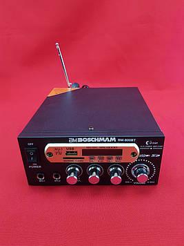 Підсилювач звуку BM AUDIO BM-800BT USB Блютуз 2х канальний