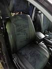 Чехлы на сиденья Пежо 206 (Peugeot 206) (модельные, экокожа Аригон+Алькантара, отдельный подголовник), фото 3