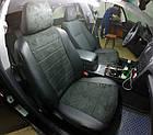 Чехлы на сиденья Пежо 206 (Peugeot 206) (модельные, экокожа Аригон+Алькантара, отдельный подголовник), фото 4
