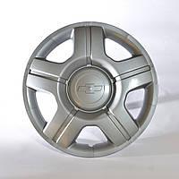 Колпак для автомобильных дисков Chevrolet (Шевроле) R14 Серебристый металлик.