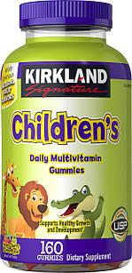 Kirkland Signature children's Complete Полівітаміни, 160 жувальних цукерок