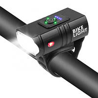Велофонарь BK-02Pro-2XPE ULTRA LIGHT, ALUMINUM, индикация заряда, Waterproof, аккум., ЗУ micro USB, фото 1
