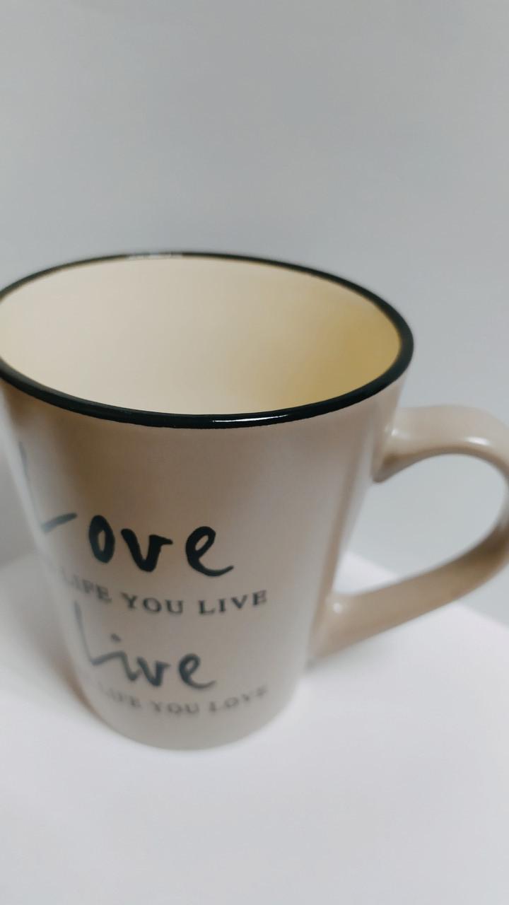 Чашка Milika Love&Live Gray(410 мл)