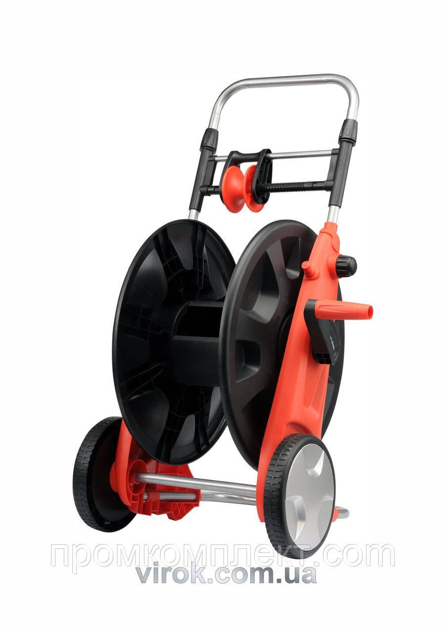 """Візок на колесах з котушкою для шлангу з направляючою YATO 1/2""""-50 м 3/4""""-45 м"""