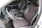 Чехлы на сиденья Митсубиси Лансер 10 (Mitsubishi Lancer 10) (модельные, 3D-ромб, отдельный подголовник), фото 5