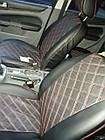 Чехлы на сиденья Митсубиси Лансер 10 (Mitsubishi Lancer 10) (модельные, 3D-ромб, отдельный подголовник), фото 7