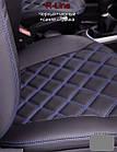 Чехлы на сиденья Митсубиси Лансер 10 (Mitsubishi Lancer 10) (модельные, 3D-ромб, отдельный подголовник), фото 8