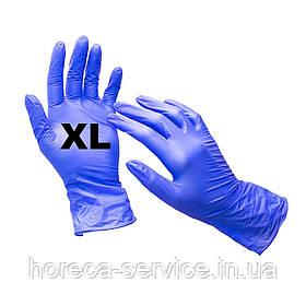 Перчатки нитриловые неопудренные синие размер XL 50 пар