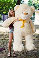 Большой плюшевый медведь 200 см Персиковый, Мишки 2 метра, Большие мягкие игрушки, Большой плюшевый медведь