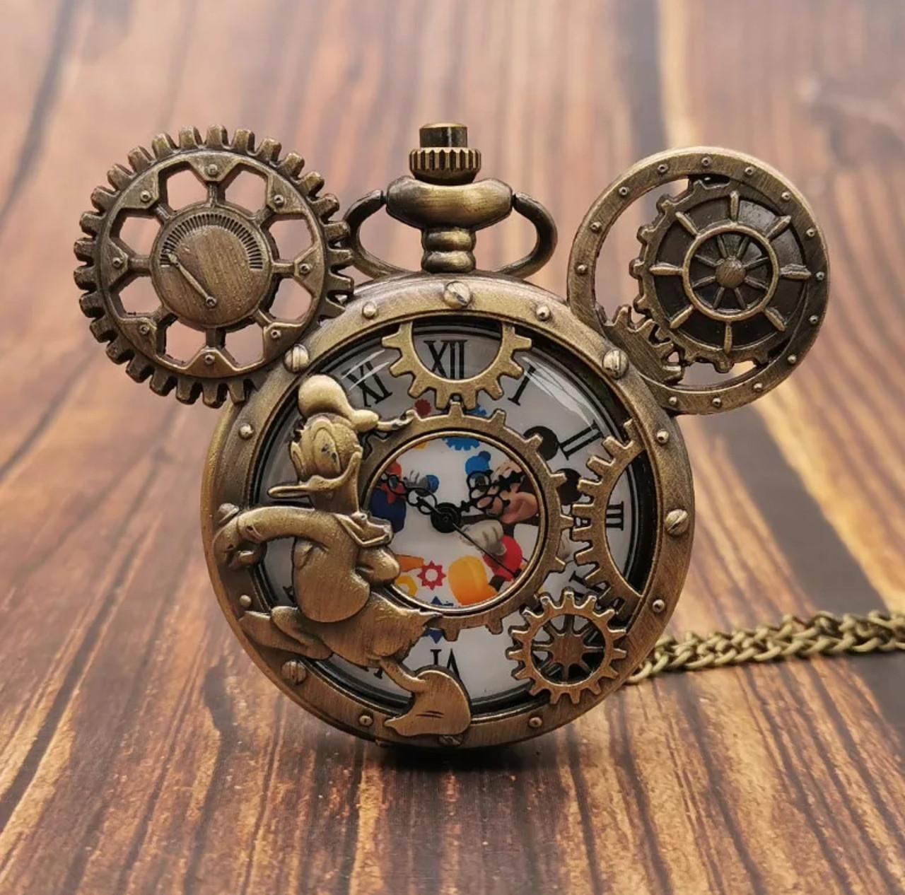 Мужские часы карманные Микки Маус на цепочке отличный подарок